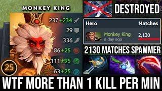 World Class Monkey King Spammer More Than 1 Kill Per Min   Ez Delete Drow Fast GG Cancer DotA 2