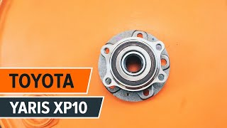 How to replace rear wheel bearing TOYOTA YARIS XP10 TUTORIAL | AUTODOC