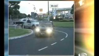 Car chase in Glen Innes Auckland New Zealand