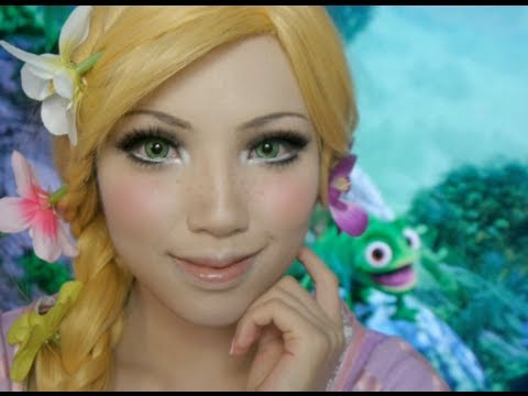 Disney's Tangled Rapunzel Make-up Tutorial( Ft. Flynn And Pascal) video