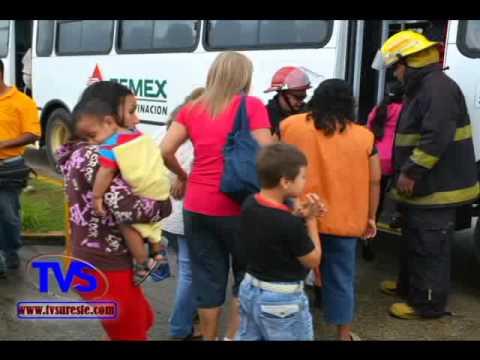 TVS Noticias.- En Minatitlan Realizan Simulacro Total Contraincendios 2014