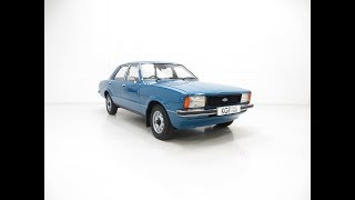 A Nostalgic Ford Cortina Mk4 1600L with 40,249 Miles in Amazing Show Condition - SOLD!