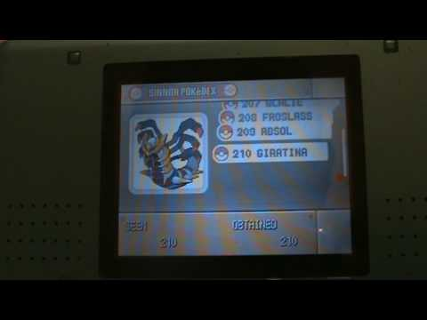 Pokemon Platinum Full Sinnoh PokeDex