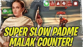 *SUPER LOW SPEED* PADME COUNTERS DARTH REVAN AND MALAK! Shaak Ti Also Good with Padme! | SWGoH