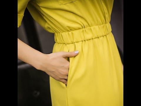 Сшить платья с резинками в рукавах 422