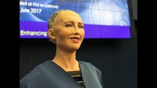 Sofia Is Talking With Sheikh Hasina PM   Robot Sophia Now Bangladesh