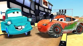 Cars: Fast as Monster truck Lightning McQueen and Neon Race Mater [iOS] Gameplay