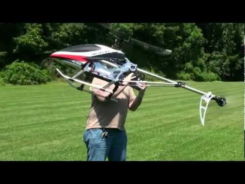 9117 Rc 4Ch.Outdoor Helicopter! First Flight.And Landing.(3D Available)