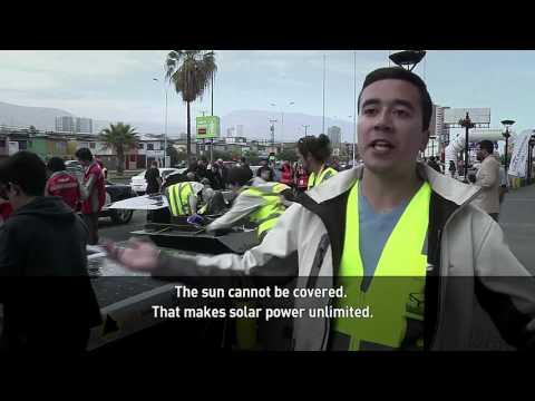 Racing solar vehicles in the Atacama Desert