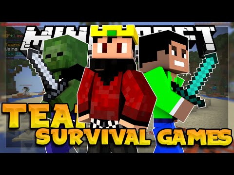 TEAM SURVIVAL GAMES in 0.14.0 - FUNNY MOMENTS W/ FRIENDS!!! - Minecraft PE (Pocket Edition)
