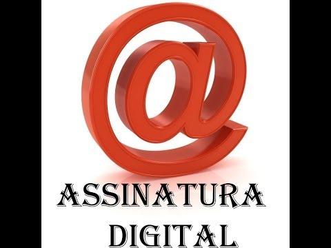 Como criar assinatura digital pdf