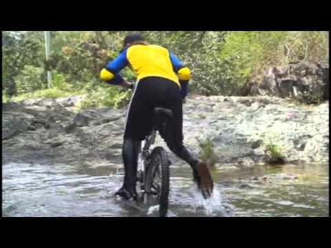 Giant from 1992 been ride through Yayabo river in the Escambray mountains in Sancti-Spíritus, Cuba.