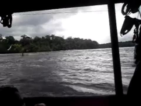 raudal en el rio guainia