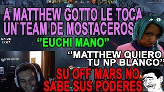 A MATTHEW GOTTO LE TOCA UN TEAM DE MOSTACEROS     SU OFF PICKEA MARS, PREGUNTA POR SUS PODERES