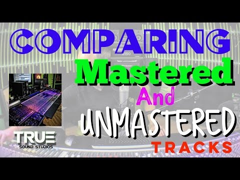 Comparing UNMASTERED & MASTERED Tracks