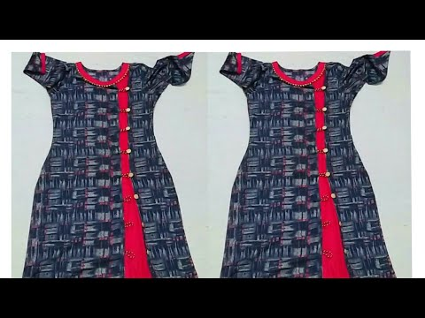 Very beautiful and creative side cut kurta design cutting and stitching/ making easy way