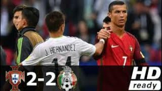 Portugal vs Mexico 2-2 - All Goals & Highlights - 18/06/2017 - HD