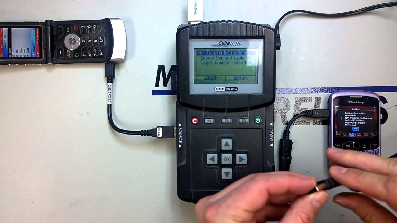 Transfer Phone Data Using The Cellebrite Machine