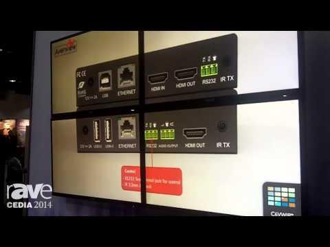 CEDIA 2014: Avenview Demos Its Modular Video Wall Encoder and Decoder with Audio De-embedding