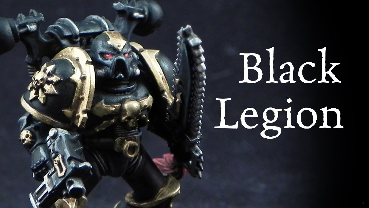 How to paint black legion chaos space marines youtube
