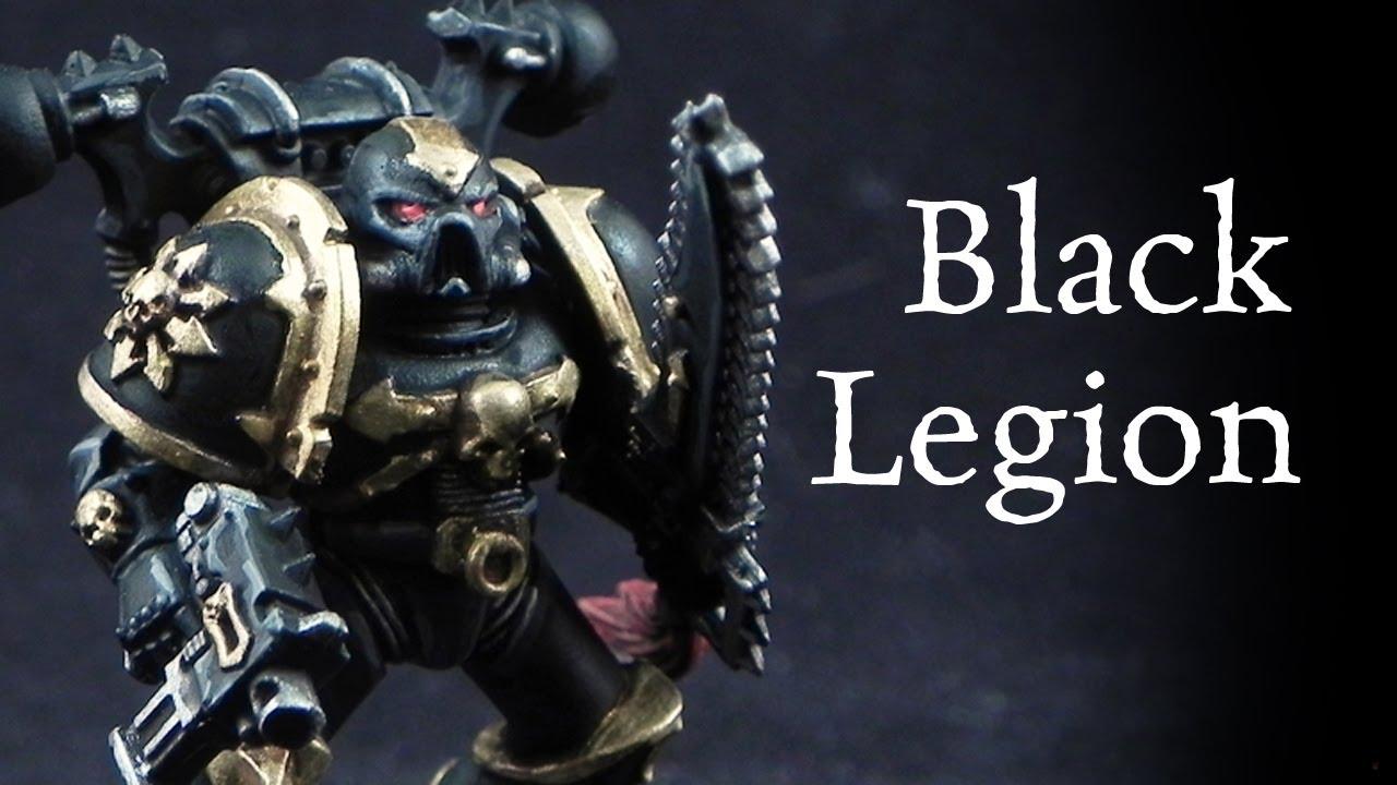 Painting Black Space Marine Armor