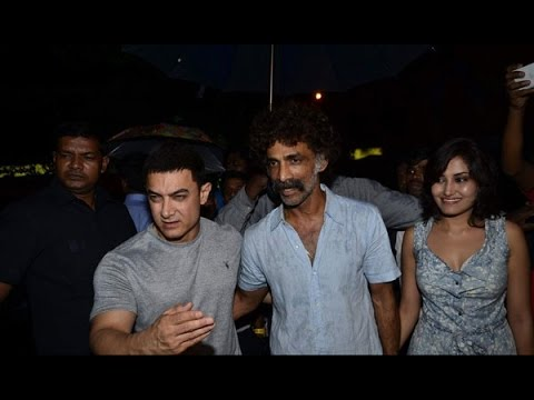 Aamir Khan attends the screening of Marathi film Saturday Sunday...