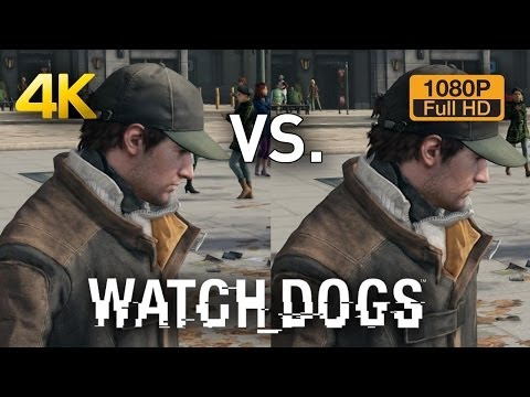 4K vs 1080p Graphics Comparison - Watch Dogs