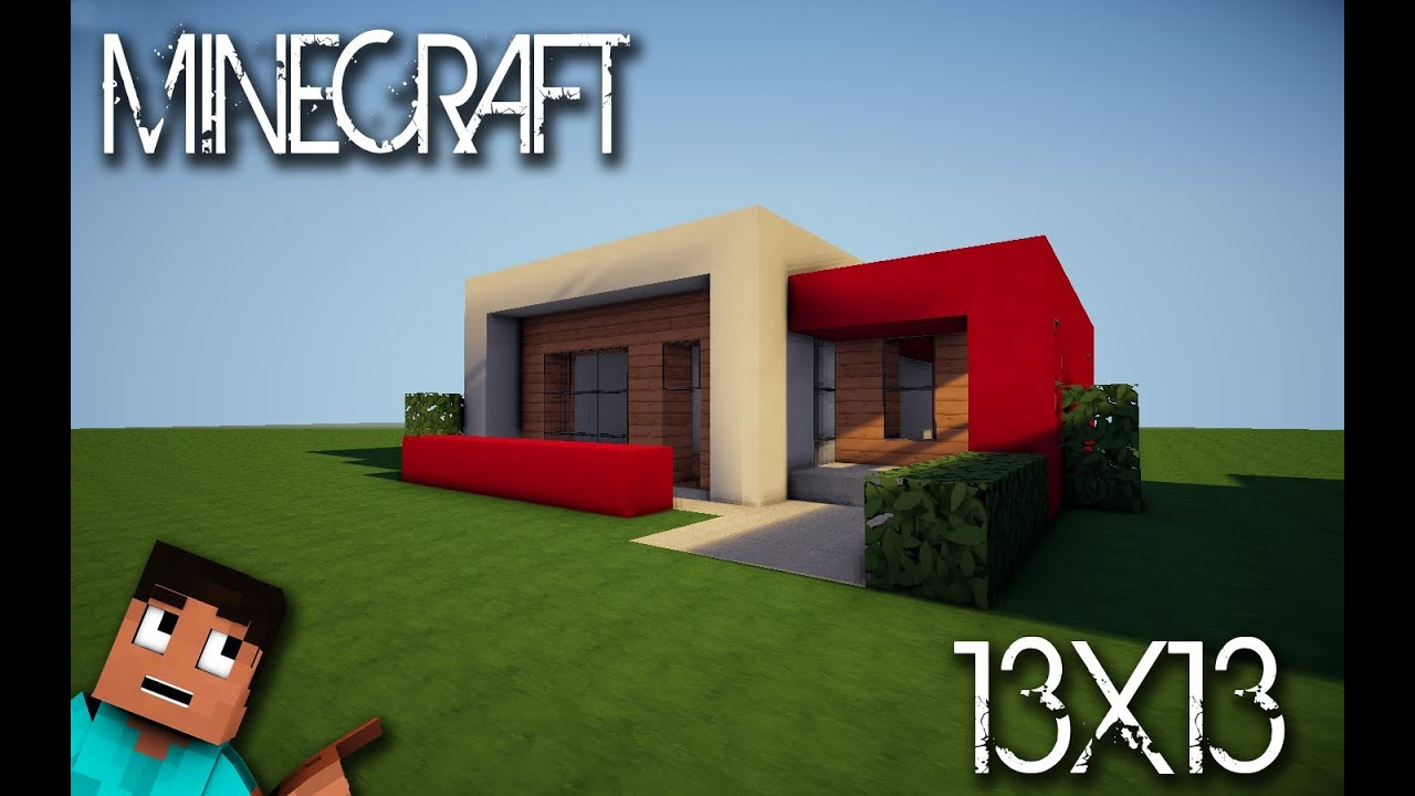 Minecraft house tutorial 13x13 modern house youtube for Keralis modern house 9 part 1