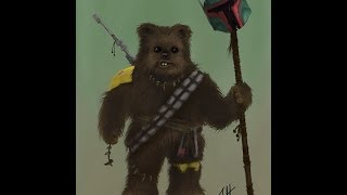 Star Wars Ewok - The Collector (ipad painting)