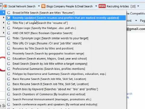 100+ Pre-constructed Boolean Searches for Recruiters
