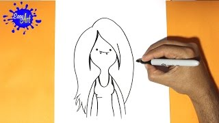 Como dibujar a marceline- Hora de aventuras | how to draw marceline- Adventure time