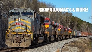 KCS Railfanning with Gray MAC's & More!