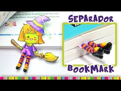 Witch BookMark Polymer Clay Tutorial / Separador de brujita de Arcilla Polimérica