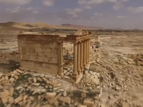 Raw: Drone Footage Captures Palmyra Ruins, City