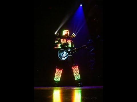Genius Inventor Musician Creates Worlds First LED Robotic Suit, Trans Siberian Orchestra Edition