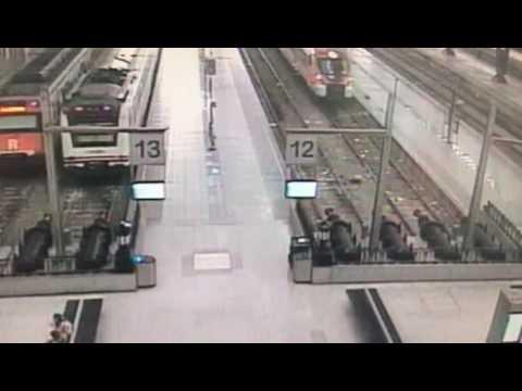 Accidente de tren en estación de Francia