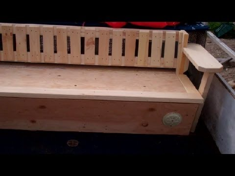 how to build a boat bench seat