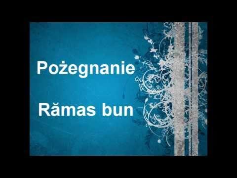 Nauka Języka Rumuńskiego - Pożegnanie