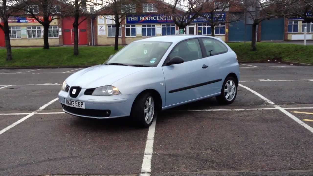 seat ibiza 1 4 sport 16v 100 bhp 2003 youtube. Black Bedroom Furniture Sets. Home Design Ideas