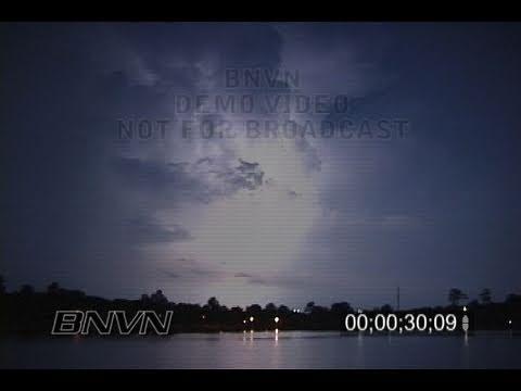 7/5/2004 Time Lapse Lightning Video at night