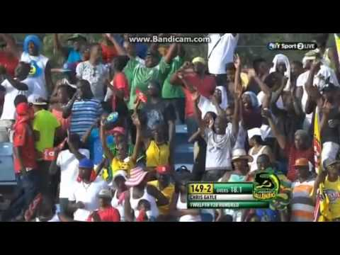 Cpl 2014 Match 3 -chris Gayle Takes A Single To Get To His 100 video