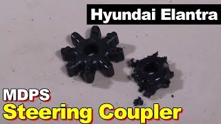 Kia or Hyundai Motor Driven Power Steering Clunk Noise MDPS Rubber Coupler // 현대 아반떼