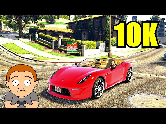 GTA 5 Pc 10K Resolution GTX 1080 TI SLI Frame Rate Performance Test