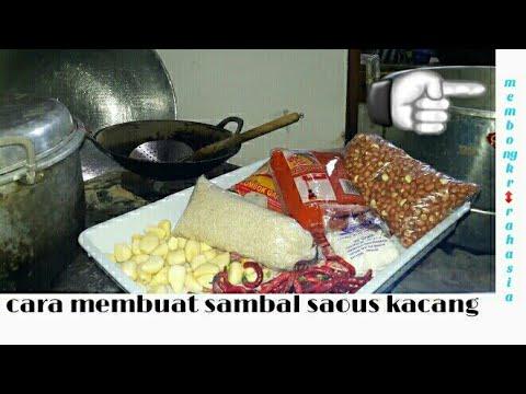 cara membuat sambal  saus kacang untuk cilok (full) cara memuat bumbu sampae selesae -versi 1