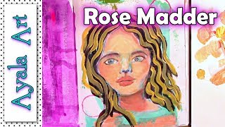 Acrylic painting tutorial - Recycle paint Art Journal face