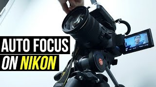 How To AUTOFOCUS Video On A Nikon D5200/D5300/D5500? (Best MOVIE Settings)
