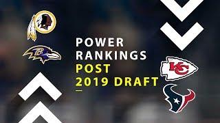 Post 2019 NFL Draft Power Rankings!