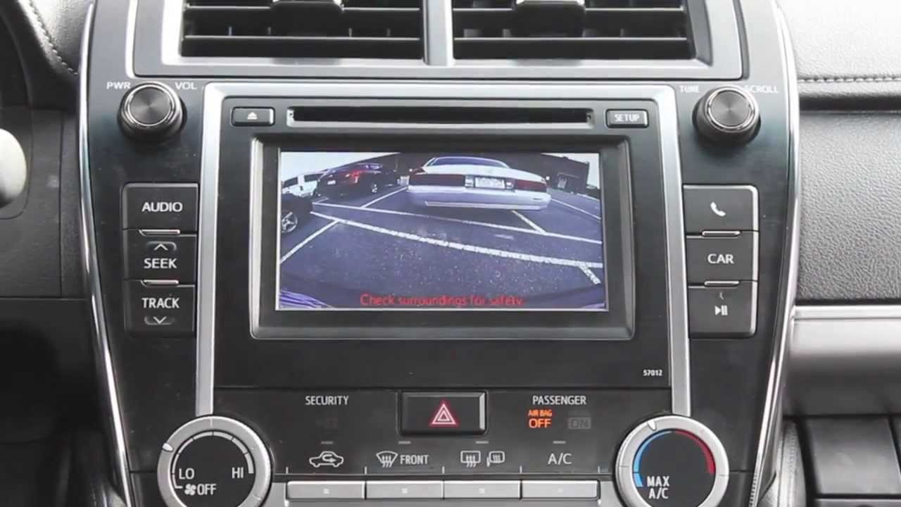 2012 2013 Camry Backup Camera Youtube