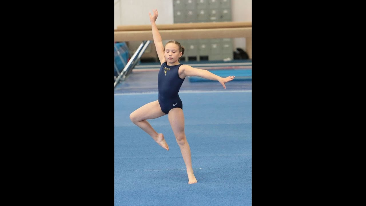 Competitng The New Usag Level Gymnastics Floor Routine Youtube