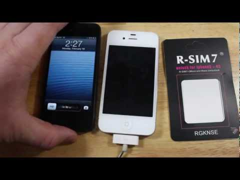 UNLOCK iPhone 4S Sprint & Verizon CON RSIM 7 (EEUU)